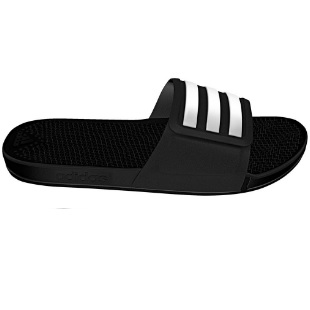 adidas adissage slippers zwart wit