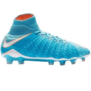 vrouwen voetbalschoenen met sok blauw