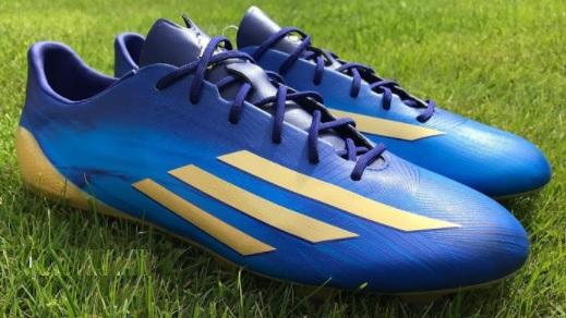 adidas f50 adizero afcon blauw goud