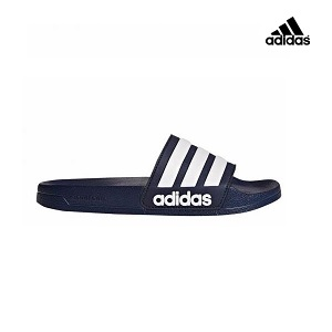 adidas slippers donkerblauw wit