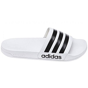 adidas slippers originals wit