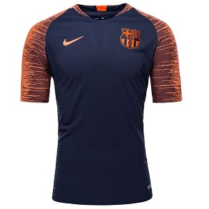 barcelona trainingsshirt strike blauw oranje