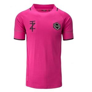 touzani shirt roze grijs zwart