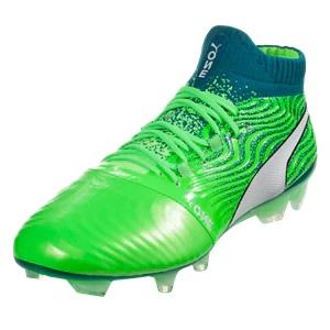 hoge puma one voetbalschoenen groen