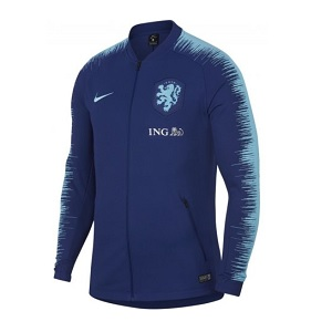 nederland trainingsjack anthem blauw