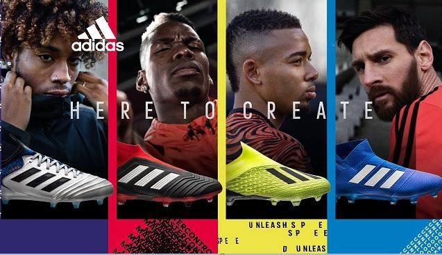 adidas team mode rood geel blauw