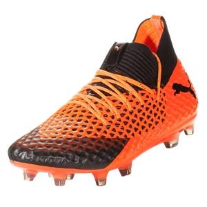 puma suarez voetbalschoenen oranje zwart