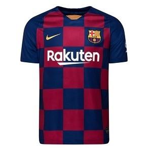 barcelona geblokt shirt thuis rood blauw 2019-2020