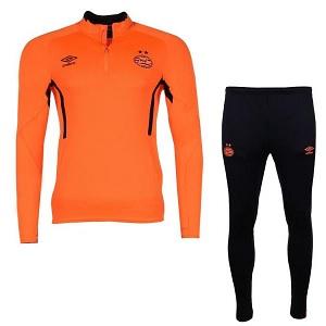 umbro psv oranje zwart zip trainingspak 2019-20