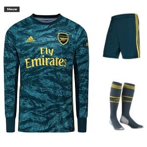 adidas arsenal keepers tenue blauw 2019-20