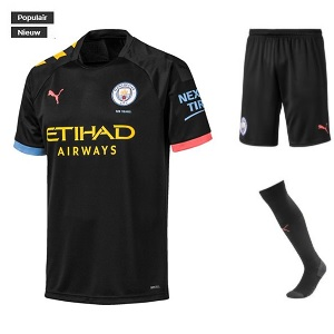 puma manchester city tenue zwart kids 2019-20