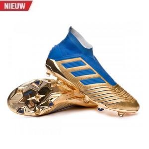 adidas hoge voetbalschoenen predator blauw goud
