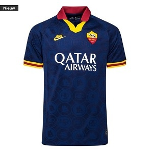 nike as roma 3de shirt donkerblauw 2019-2020