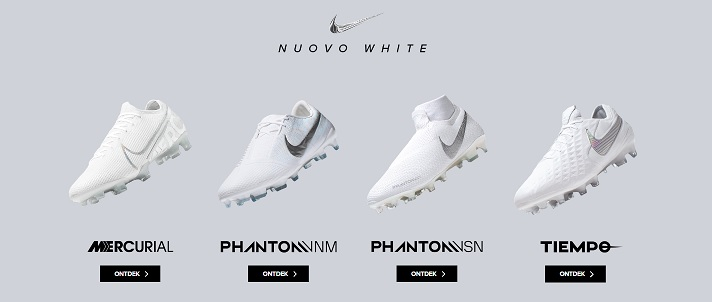 nike nuovo white voetbalschoenen wit grijs