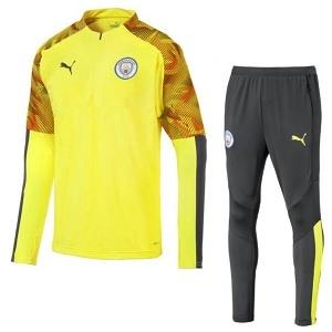 puma manchester city trainingspak geel 2019-20