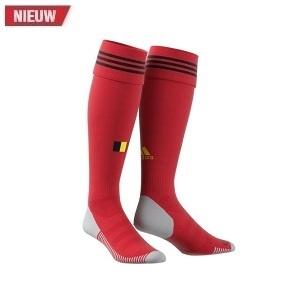 adidas belgie voetbalkousen thuis rood 2020-2021