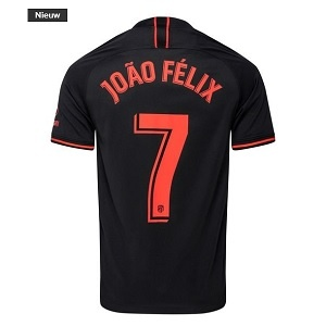 atletico madrid joao felix uitshirt zwart 2019-2020