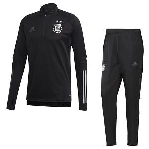 adidas argentinie trainingspak zwart 2020-21