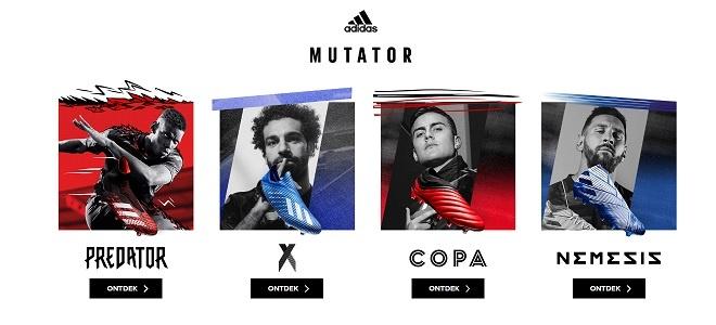 adidas mutator voetbalschoenen blauw rood