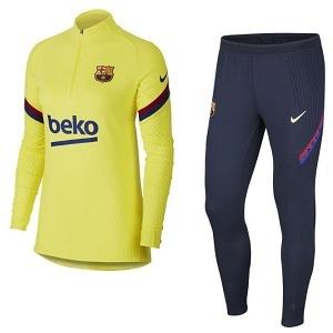 nike barcelona trainingspak geel blauw 2020