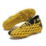 puma future 5 geel zwarte netfit voetbalschoenen