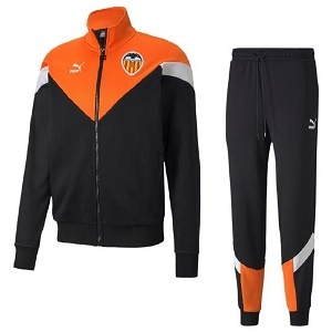 puma valencia zwart oranje trainingspak 2020-21