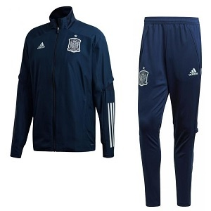 adidas spanje trainingspak donkerblauw 2020-21