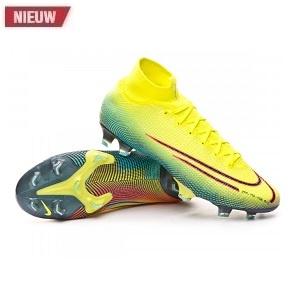 nike mercurial geel groene hoge voetbalschoenen
