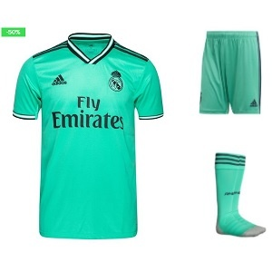 adidas real madrid 3de tenue turquoise