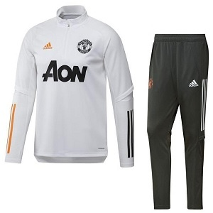 adidas manchester united trainingspak zip 2020-21