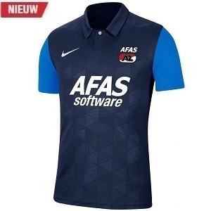 nike az alkmaar uitshirt blauw 2020-2021