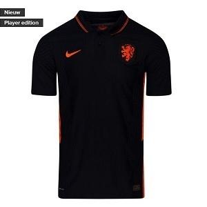 nike nederlands elftal uitshirt zwart 2020-2021