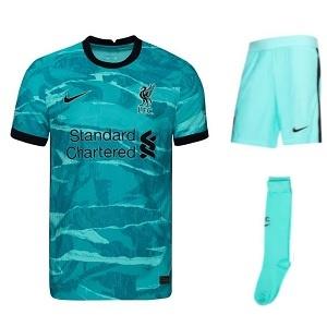 liverpool lichtblauw tenue uit 2020-2021