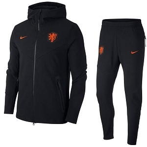 cumpleaños Monarca Saliente  Nike Nederlands Elftal Zwart Trainingspak 2020-2021 | Voetbalshirtsdirect