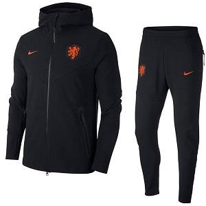 nike nederlands elftal zwart trainingspak 2020-2021
