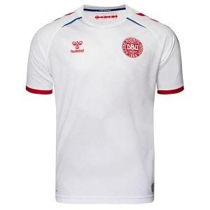 denemarken shirt uit wit kind 2020-21