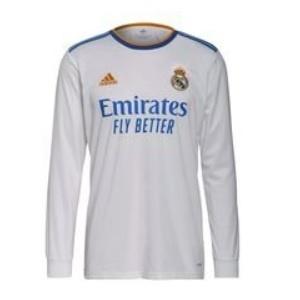 real madrid shirt long sleeve 2021-2022